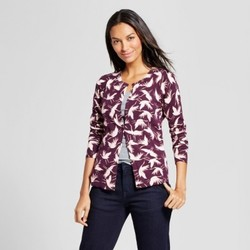 Women's Printed Cardigan - A New Day  Red M 1701268