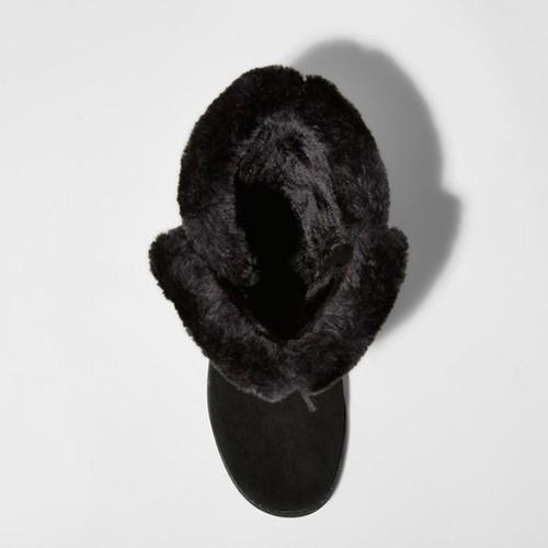 2d55631fbc6b1 ... Mossimo Women s Daniela Tall Suede Winter Boots - Black - Size 10 ...