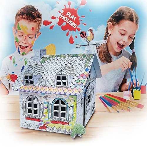 My Little Cardboard Coloring Playhouse: Rural House - Check Back ...