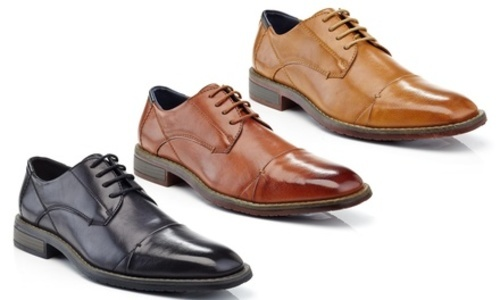 555a8b61ccb ... Adolfo Men s Wisley Cap-Toe Lace-up Dress Shoes - Brown - Size  ...