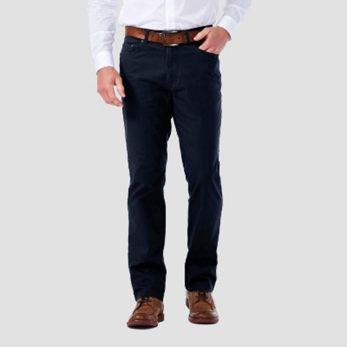 Haggar h26 men 39 s 5 pocket stretch twill pants navy for Haggar forever new shirts