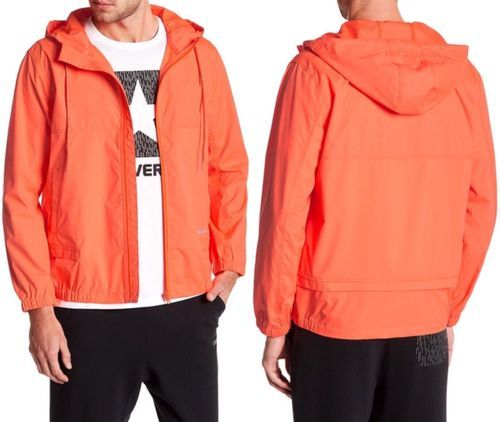 73656d99cb16 Converse Men s Reflective Windbreaker Packable Jacket - Orange ...