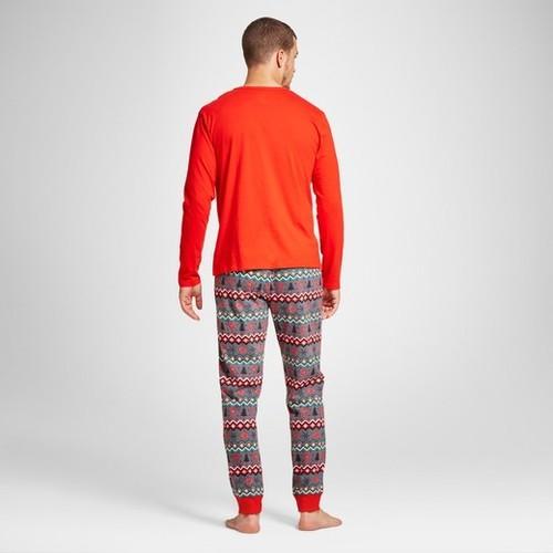 Wondershop Men's Reindeer Fair Isle Pajama Set - Red - Size:XL - BLINQ