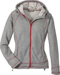 Cabela's Women's Honeycomb Marshmallow Hoodie - Heather Gray - Size:L
