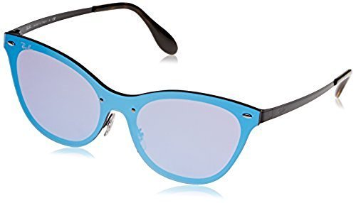 4eff5991b2 ... Ray-Ban Women s Blaze Cat Eye Sunglasses - Black Violet Blue Mirror ...