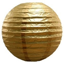 "5ct Lumabase Metallic Gold Round Paper Lanterns 10"""""" 1730847"