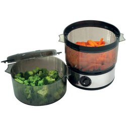 Chef Buddy Food Steamer with Timer and 2-Containers (82-HE506)
