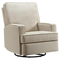 Baby Relax Addison Swivel Gliding Recliner Beige Check