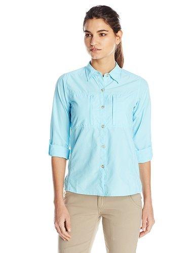 9dcb28b6 ExOfficio Women's Dryflylite Long Sleeve Shirt - Sea Glass - Size:XL ...