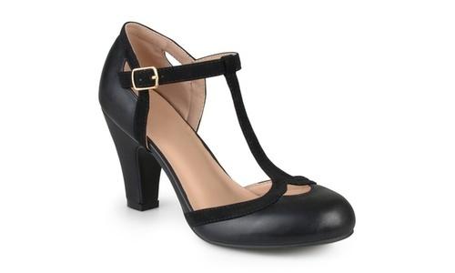 e63a0413799 Journee Women s T-Strap Mary Jane Pumps - Black - Size 11 - Check ...