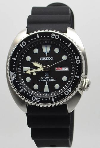 Seiko Men's 45mm Turtle Automatic Watch - Black Dial/Bezel (SRP777K1)