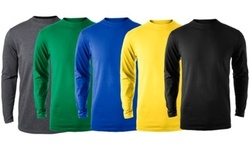 Zorrel Men's Long Sleeve Active T-Shirts 2 Pack - Black & White - Size:L 1742829