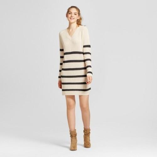 8643206457 Women s Striped Sweater Dress - Mossimo Supply Co. Cream S - Check ...