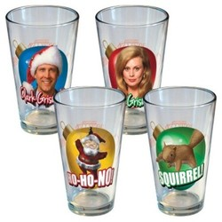National Lampoons Christmas Vacation  Pint Glass 16oz - Set of 4 1747399