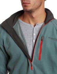 Columbia Men's 1/2 Zip Long Sleeve Shirt - Multi - Size:XL 1711887