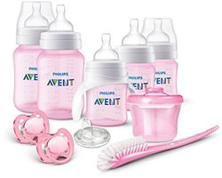 Philips Avent Anti-Colic Baby Bottle Newborn Starter Set BPA-Free pink 1751879