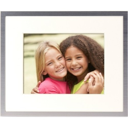 Polaroid 8 Digital Photo Frame Brushed Nickel Textured Frame