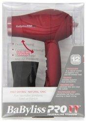 Babylisspro TT Tourmaline Titanium Travel Dryer, Red
