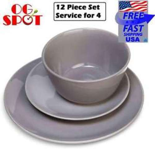 ... Coupe 12pc Dinnerware Set Gray - Room Essentials  sc 1 st  Blinq & Coupe 12pc Dinnerware Set Gray - Room Essentials - Check Back Soon ...