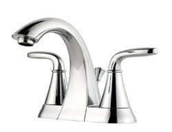 "Pfister Pasadena 4"" Centerset 2-Handle Polished Chrome Bathroom Faucet"