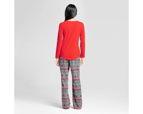 5a7bae8dc4 Wondershop Women s Reindeer Fair Isle Pajama Set - Red - Size XXL ...