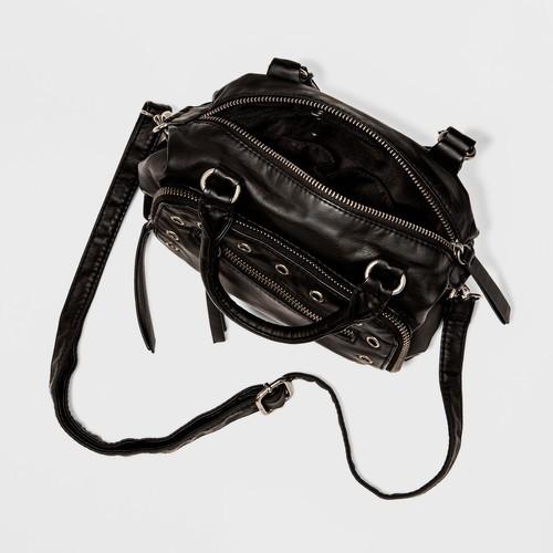 Mossimo Women S Mini Satchel Crossbody Handbag Black