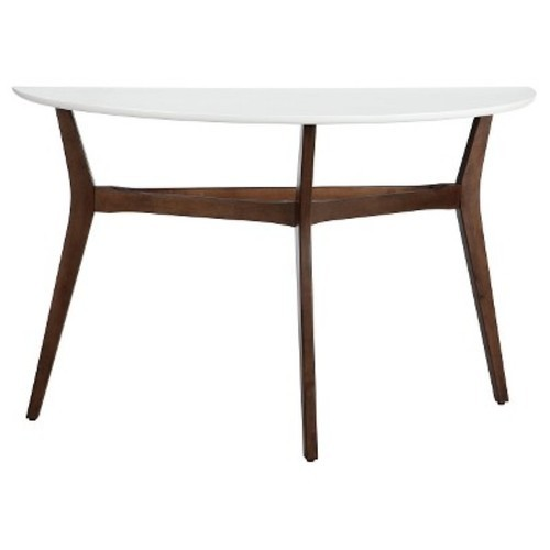 ... Threshold Two Tone Mid Century Modern Console Coffee Table   White ...