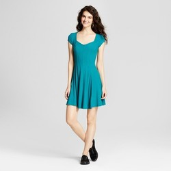 Mossimo Women's Fit and Flare Skater Dress - Teal - Size:L 1739035