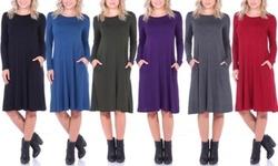 e933f50d13 ... Popana Women s Below the Knee Swing Dress - Black - Size  Medium ...
