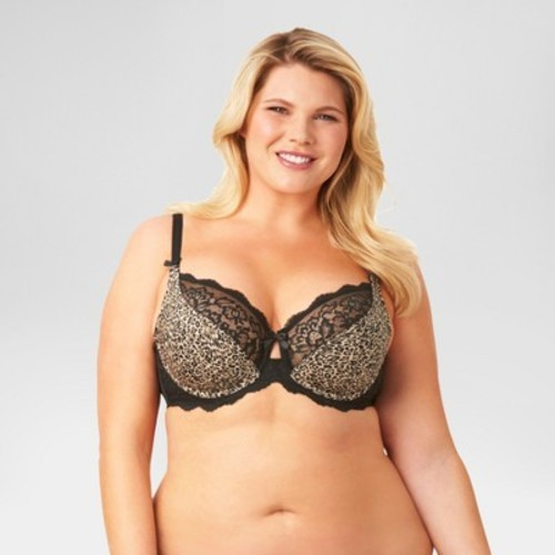 6eb76d2705 ... Women s Plus Size Animal Print Unlined Underwire Bra - Multi - Size 42C  ...