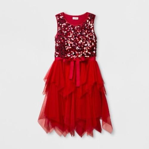 0de9aebb5a90 Girls' Sequins Dress - Cat & Jack Red XL - Check Back Soon - BLINQ