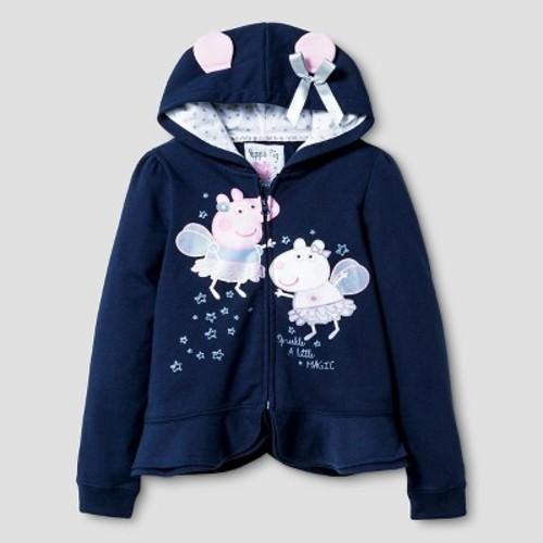 Girls Peppa Pig Costume Hoodie Navy S Check Back Soon Blinq