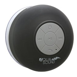 Aduro Aqua Sound Pattern Shower Bluetooth Speaker: Black