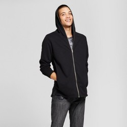 Men's Extended Full Zip Hoodie Sweatshirt - Jackson Black S 1794297