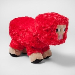 Minecraft Red Sheep Throw Pillow Check Back Soon Blinq