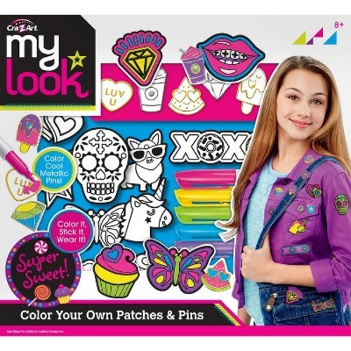 My Look Color Your Own Patches And Pins By Cra Z Art Styles May Vary Check Back Soon Blinq