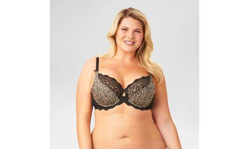 2c876974f8 Women s Plus Size Animal Print Unlined Underwire Bra - Multi - Size ...