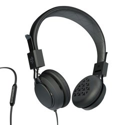 JLAB Premium On-Ear Headphones with Universal Mic - Black (INTRO-BLK-BOX)