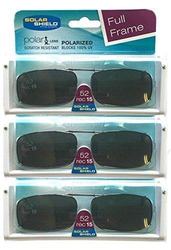 2832949806 Solar Shield Women s Polarized Clip On Lenses Sunglasses - Black(52 ...