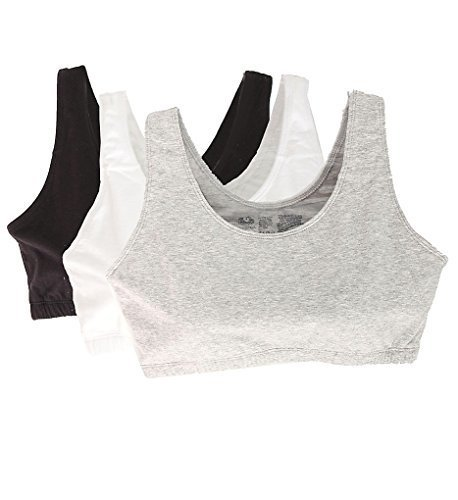 6ed454a306bc5 Fruit Of The Loom Tank Style Sports Bra - 3 Pack 9012 - Check Back ...