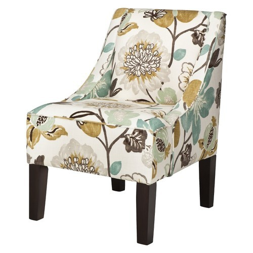 Threshold Hudson Swoop Arm Chair   Georgeous Pearl