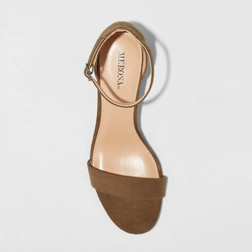 f709a11e36 Merona Women's Marcella Block Heel Sandal Pumps - Green - Size:8.5 ...