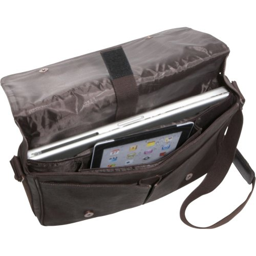 Kenneth Cole Reaction Come Bag Soon Colombian Leather Laptop Ipad Messenger