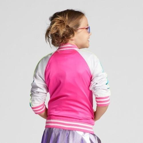 Cat Amp Jack Girls Full Sleeve Bomber Jacket Pink Size