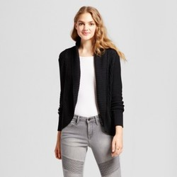 Women's Cable Knit Cocoon Cardigan - Mossimo Supply Co. Black XS 1819783