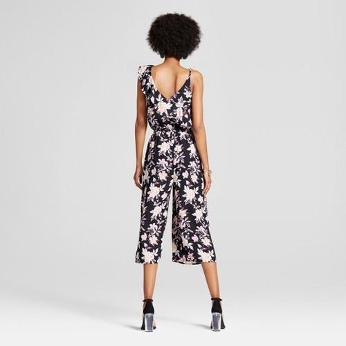 329bbd7cdb0 Xhilaration Women s One Shoulder Ruffle Jumpsuit - Black - Size  XL ...