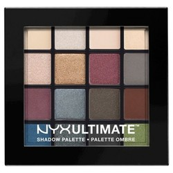 NYX Professional Makeup Ultimate Eye Shadow Palette, Smokey & Highlight 1826147