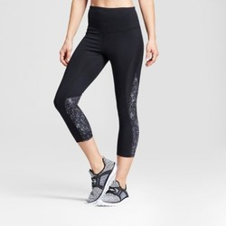 Women's Freedom High-Waist Printed Leggings - C9 Champion  Black/Gray Crosshatched Print M 1828668