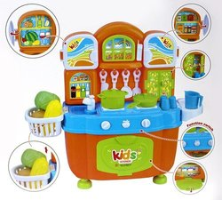 Zunchen Pretend Play Battery Operated Mini Toy Kitchen Set for Children 1701616