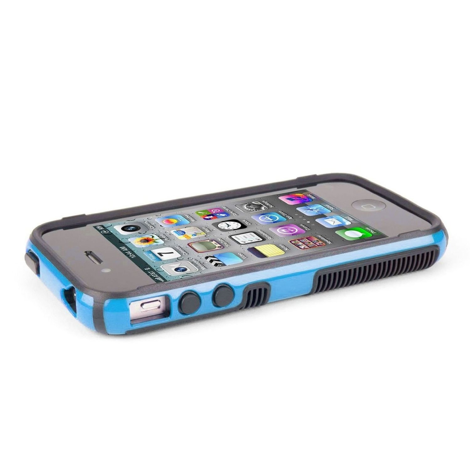 pretty nice f8207 54e69 Speck CandyShell Grip Case for iPhone 4/4S - Peacock Blue / Black ...